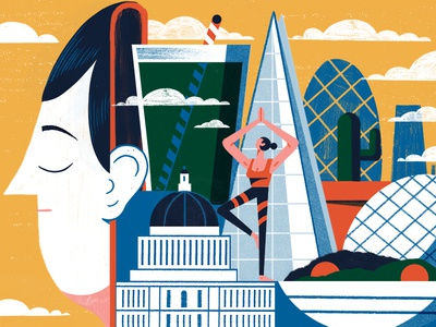 Wellness Guide to the city- Culture Trip editorial editorial illustration print illistration