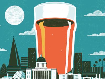 Pub Etiquette In London -  Culture Trip beverage illustration architecture editoral design colour print editorial illustration