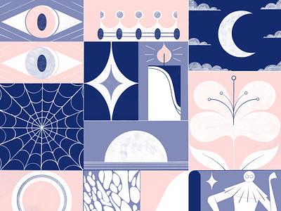 Billie Eilish x Adobe drawing billie eillish dreams illustration editoral design colour print editorial illustration