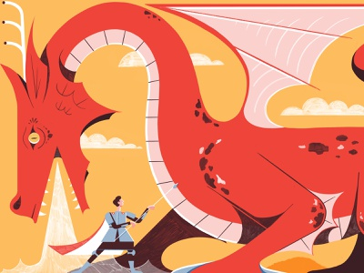 The Real Story Behind St George And The Dragon - Culture Trip illustration editoral design print colour editorial illustration