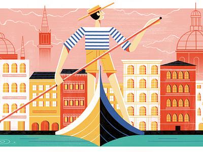 When Venice Ruled the World - Culture Trip illustration editoral design colour print editorial illustration