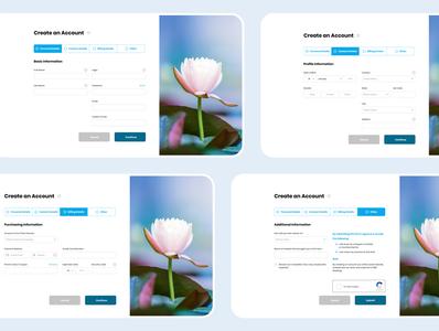 Registration process form design registration register web design flat minimal user interface website design web ux ui