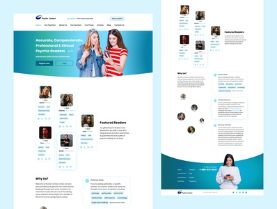 Psychic Contact psychic typography minimal user interface website design web ux ui