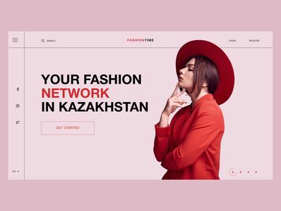 FashionTime webdesign typography flat minimal user interface website design web ux ui