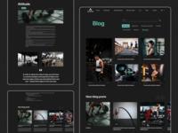 Acadiac Blog fitness blog gym sport webdesign typography flat minimal user interface website design web ux ui