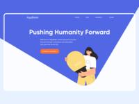 Algofields enviromental education innovation illustration typography flat minimal user interface website design web ux ui