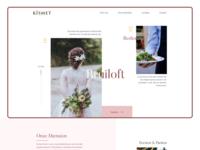 Event Agency pastel wedding feminine interface flat minimal user interface website design web ux ui