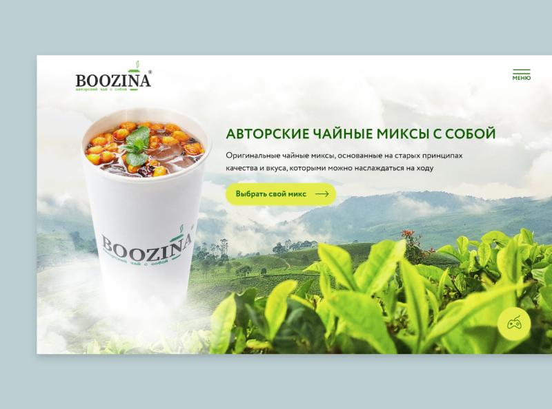 Boozina | Unique tea mixes drinks user interface web design tea flat ui ux commerce