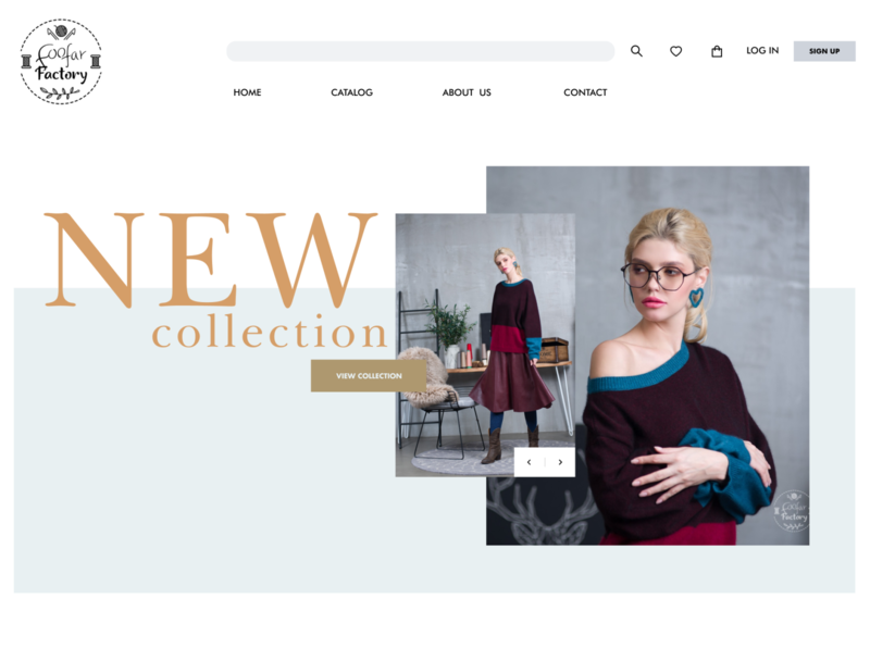 Women's clothing online store | Foofar factory typography webdesign ecommerce clothes shop user interface online store women fashion brand commerce website ux ui