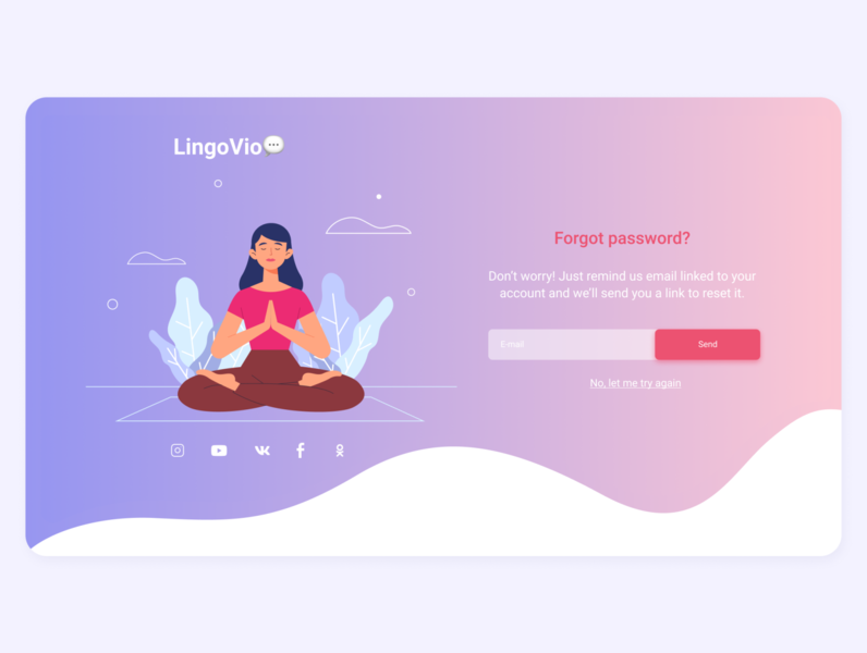Forgot password? | LingoVio signup signin password girl onboarding minimal interface uidesign uiux illustration webdesign flat user interface website design web ux ui