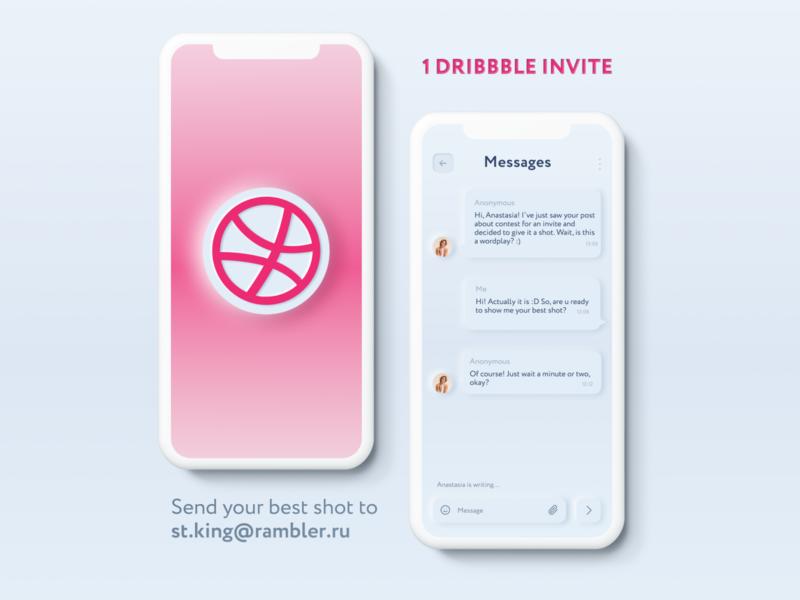 Dribbble Invite free invite skeuomorphism neomorphism invite dribbble dribbble invite dribbble invitation draft