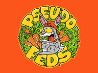 Pseudo Feds Stickers designed by Joe Tamponi joe tamponi cartoon surf skateboard graphics summer skateboarding art california punk rock design illustration