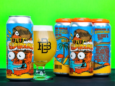 Superturbo - Craft beer can design cartoon skateboard graphics summer california skateboarding art illustrator can design illustrator packaging design joe tamponi can design brewery craft beer packaging can design craft beer can illustration