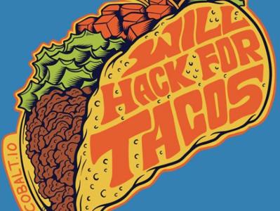 Will hack for tacos sticker cobalt hack mexican tacos sun surf skull summer skateboarding art typography skateboard graphics skate punk rock logo illustration flat design california beach