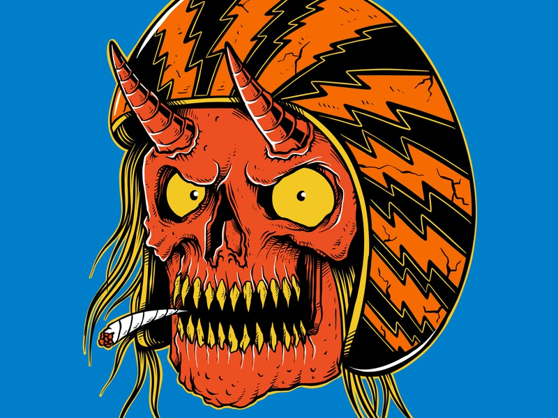 Biker   Drawn By Joe Tamponi   Creepy   Funny Llustrations Inspi palm trees skull skeleton logo flat surf cartoon sun skate joe tamponi motorcycle biker skateboard graphics beach summer skateboarding art california punk rock design illustration