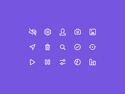 Interface icons vector stroke iconography icons livestream ios crowdfunding broadcast app ui