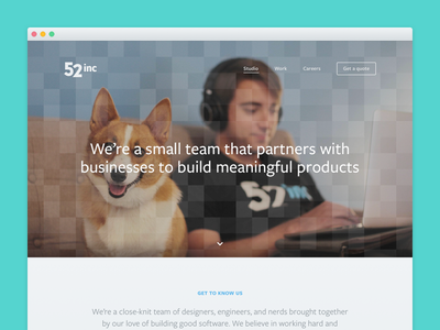 Studio culture team website web design ui responsive studio redesign agency