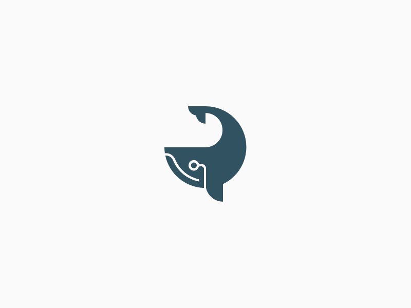 Concept B mail email monocle branding logomark logo whale