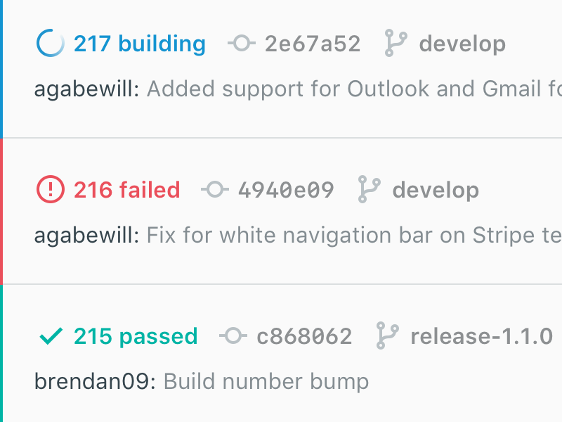 Builds web app templating email deploy build system git