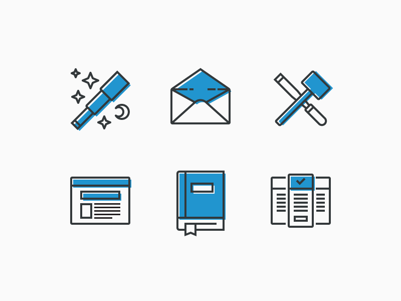 Empty state icons illustration line art offset iconography icon empty state email