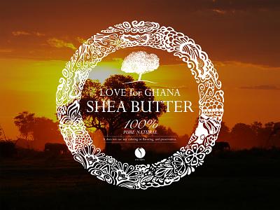 Label Sheabuttear logo graphic label package okinawa japan