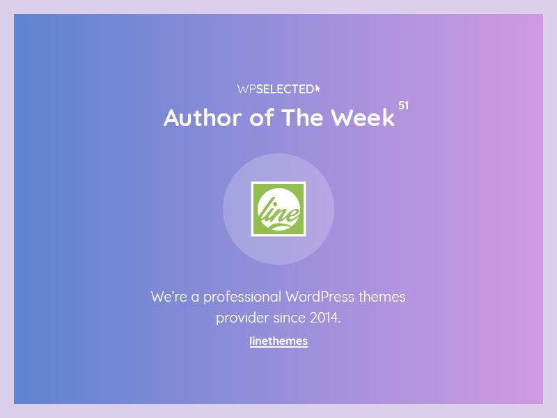WPSelected - Author of The Week - 51 creative design theme template ui ux web wordpress website rewards awards