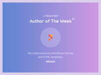 WPSelected - Author of The Week - 52