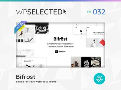 WPSelected Winner Series 032 awards rewards gallery agency portfolio photography webdesign website wordpress web ux ui template theme design creative
