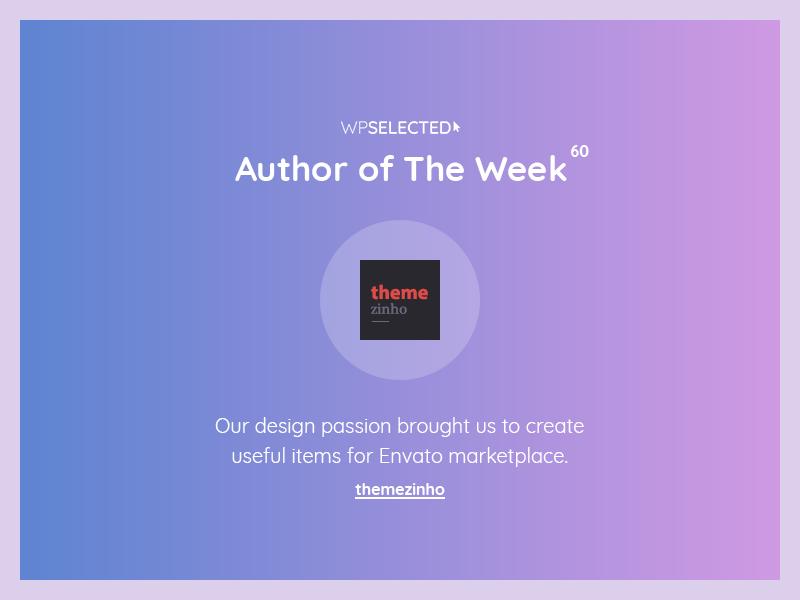 WPSelected - Author of The Week - 60 creative design theme template ui ux web wordpress website webdesign rewards awards