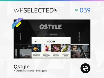 WPSelected Winner Series 039 creative design theme template ui ux web wordpress website webdesign photography portfolio agency gallery rewards awards