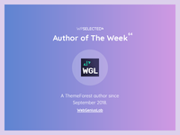 WPSelected - Author of The Week - 64