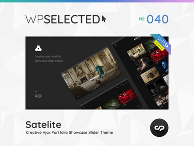 WPSelected Winner Series 040 creative design theme template ui ux web wordpress website webdesign photography portfolio agency gallery rewards awards