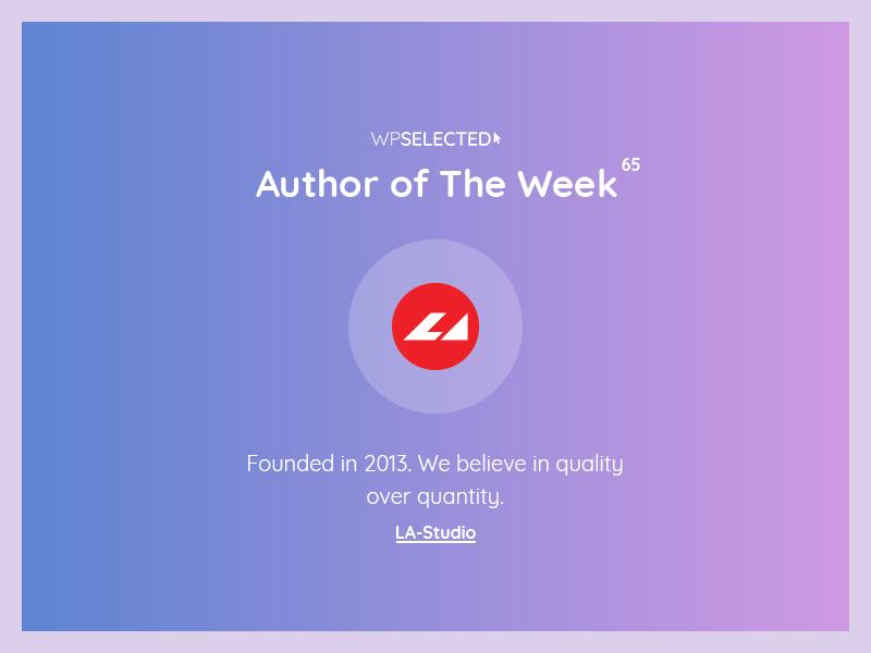 WPSelected - Author of The Week - 65 awards rewards webdesign website wordpress web ux ui template theme design creative