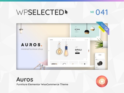 WPSelected Winner Series 041 creative design theme template ui ux web wordpress website webdesign photography portfolio agency gallery rewards awards