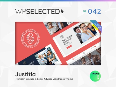 WPSelected Winner Series 042 creative design theme template ui ux web wordpress website webdesign photography portfolio agency gallery rewards awards