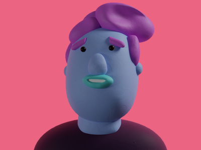 Clay-doh! blender 3d illustration lowpoly cute color character design character clay