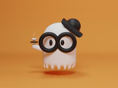Boo-rista 3d design illustration character