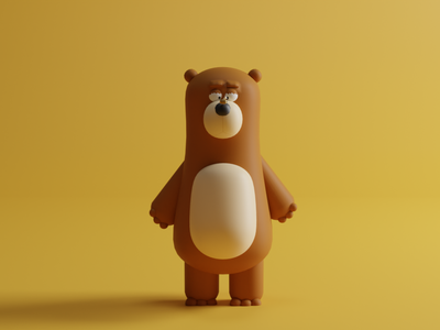 Bee-very still 3d design character