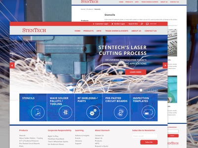 StenTech Redesign netsuite elim solutions layout hero ui design web