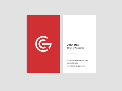 CCG Business Cards print type vertical business cards logo branding card red minimal business card
