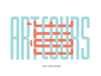 Letter Design for a Museum - Art Côté Cours (French Wordplay)