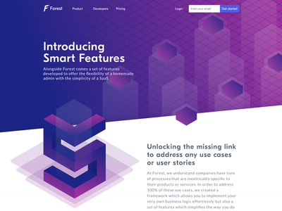 Forest Admin - Introducing Smart Features webpage features product framework forest admin forest dashboard back office admin