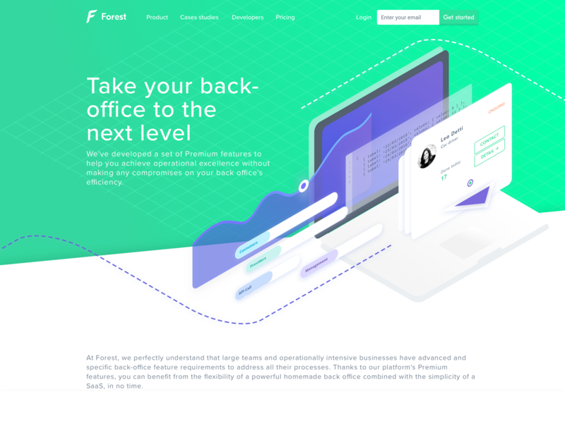 Forest Admin - Introducing Premium features webpage product premium features framework forest admin forest features dashboard back-office admin