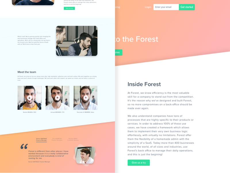 Forest Admin - Careers page webpage product jobs framework forest admin forest dashboard careers back-office admin