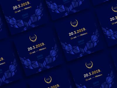 Zlatni indeks invitation cards