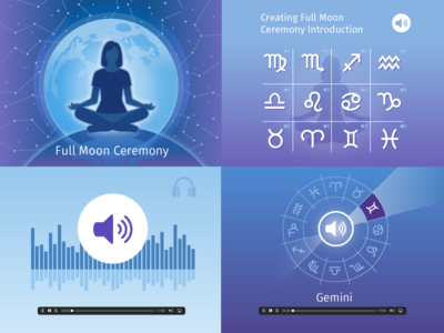 Full Moon Meditation course full moon meditation icon ui ux logo flat branding vector illustration design