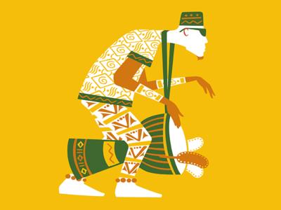 Guinea djembe drummer african drumming world rhythm festival africa guinea djembe drumming design illustration