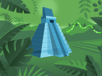 Tikal jungle scene
