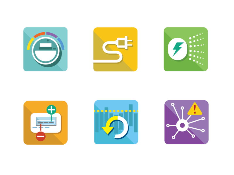 Smart Buildings Center energy audit conservation energy flat ux ui branding illustration design icon