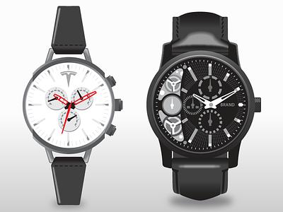 Vector watches product wristwatch watch flat vector branding illustration design